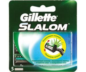 Gillette Slalom сменные кассеты для бритья 5шт (штучно)