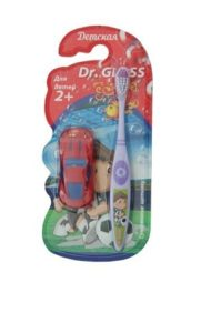 Gloss Зубная щётка детская с машинкой