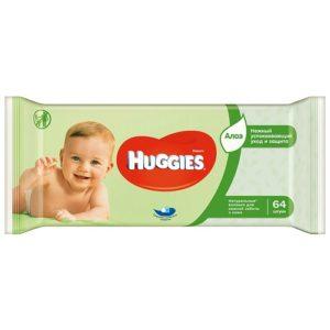 Huggies Влажные салфетки Wipes DuoUltra Comfort Aloe 64