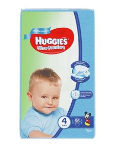 Huggies подгузники Ultra Comfort №4 Mega Boy 66шт