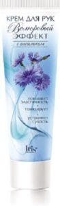 IRIS Cosmetic Крем-бальзам для рук и ногтей Велюровый Эффект с Васильком 100мл