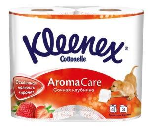 Kleenex туалетная бумага Клубника 4шт