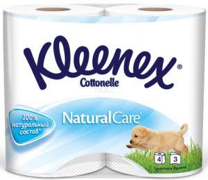 Kleenex туалетная бумага Natural Care 4шт