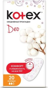 Kotex Ежедневки Deo Normal Liners 20шт