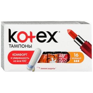 Kotex Тампоны Норм 16шт