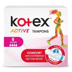 Kotex Тампоны Active Super 8шт