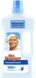 MR PROPER Моющая жидкость для полов и стен Бережная уборка 1000мл