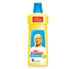MR PROPER Моющая жидкость для полов и стен Лимон 1000мл