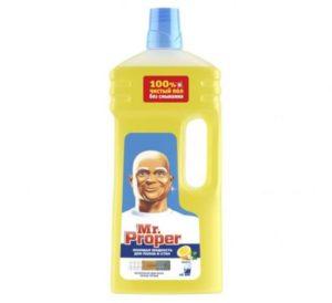 MR PROPER Моющая жидкость для полов и стен Лимон 1500мл