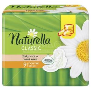 NATURELLA Classic Женские гигиенические прокладки с крылышками Camomile Normal Single 9шт