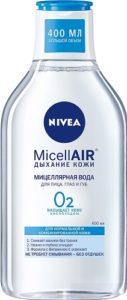 Nivea Мицеллярная вода MicellAIR Дыхание Кожи для норм и комб кожи 400мл