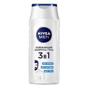 Nivea Men Шампунь-гель Освежающий 3в1 250мл