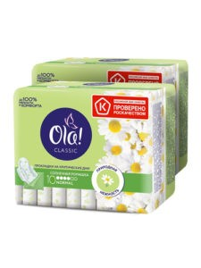 OLA Classic гигиенические прокладки Singles Normal Солнечная Ромашка 10шт