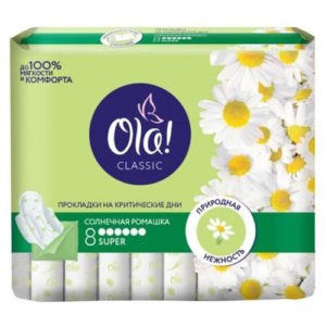 OLA Classic гигиенические прокладки Singles Super Солнечная Ромашка 8шт