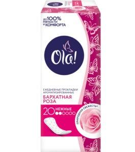 OLA Daily Deo гигиенические прокладки на каждый день Бархатная Роза 20шт