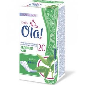 OLA Daily Deo гигиенические прокладки на каждый день Зелёный Чай 20шт