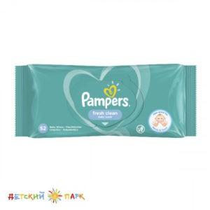 PAMPERS Детские влажные салфетки Fresh Clean 52 шт