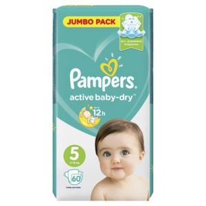 PAMPERS Подгузники Active Baby Junior Jumbo №5 (11-16кг) 60шт