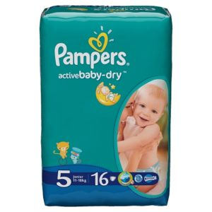 PAMPERS Подгузники Active Baby Junior №5 (11-16кг) 16шт