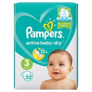 PAMPERS Подгузники Active Baby Midi №3 (6-10кг) 22шт