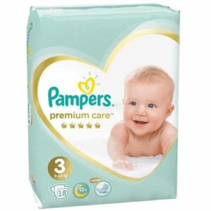 PAMPERS Подгузники Premium Care Midi №3 (6-10кг) 18шт