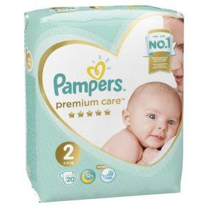 PAMPERS Подгузники Premium Care Mini №2 (4-8кг) 20шт
