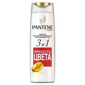 PANTENE Шампунь и бальзам-ополаск 3в1 Яркость Цвета и защита от повреждений для окраш волос 360мл