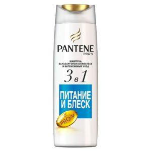 PANTENE Шампунь 3в1 Питание и Блеск 360мл