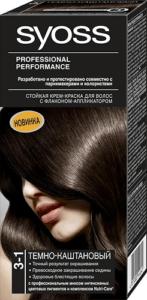 Syoss Краска для волос 3-1 Тёмно-каштановый 50мл