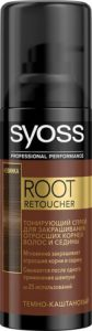 Syoss Root Retoucher Тонирующий спрей для волос Тёмно-каштановый 120мл