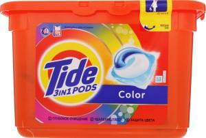 TIDE Средство моющее в растворимых капсулах Color 15шт