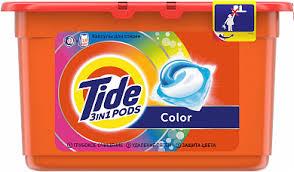 TIDE Средство моющее в растворимых капсулах Color 18шт