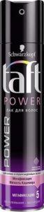 Taft Лак для волос  Power Мегафиксация 5 225мл