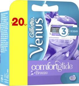 Venus Breeze Сменные кассеты для бритья с гелевыми подушечками 4шт (штучно)