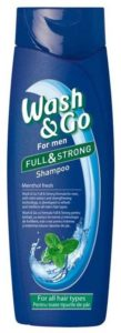 Wash&Go For Men Шампунь с Ментолом 400мл