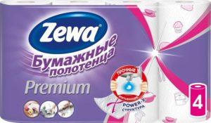Zewa Бумажные полотенца Premium 2х слойные 4шт