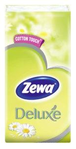 Zewa Носовые платочки Deluxe Camomile 3х слойные 10шт
