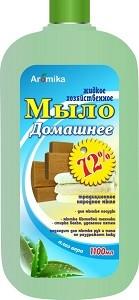 Аромика Хозяйственное Домашнее Жидкое мыло 65% Алоэ Вера 1100мл
