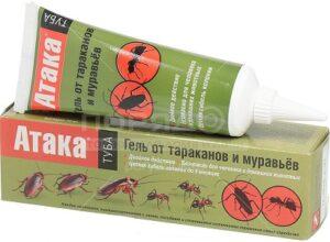 Атака Гель Инсектицидное средство от Тараканов и Муравьёв 75мл