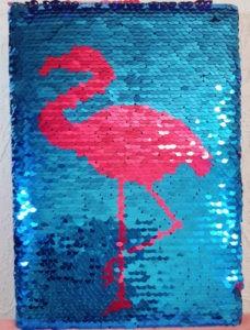Блокнот-ежедневник с Пайетками Фламинго