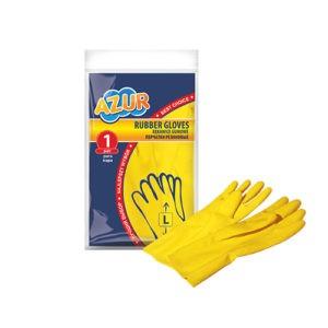 Перчатки резиновые AZUR L 1шт
