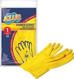 Перчатки резиновые AZUR M 1шт
