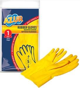 Перчатки резиновые AZUR S 1шт