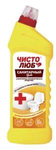 ЧИСТОЛЮБ Гель Санитарный Атибактериальное чистящее средство 750гр