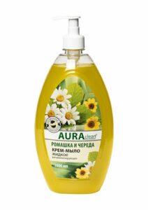 Aura Clean Жидкое Крем-мыло Ромашка Череда Витаминизирующее 1000мл