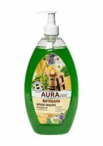 Aura Clean Жидкое Крем-мыло Фитобаня Питательное 1000мл
