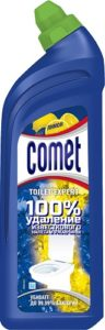 Comet Гель для чистки туалета Лимон 700мл