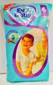 Evy Baby Подгузники XL 16+кг №6+ 4шт
