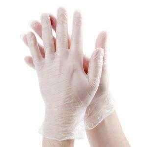 Gloves Перчатки Виниловые Белые 1шт