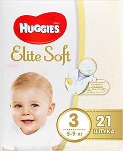 Huggies подгузники Elite Soft №3 21шт